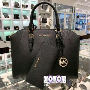 Michael Kors Ciara Large Satchel Saffiano Leather